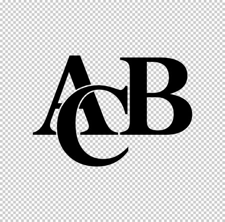 symbols heap of alphabet  - black vector icon