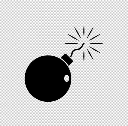 bomb - black vector icon Vector Illustration