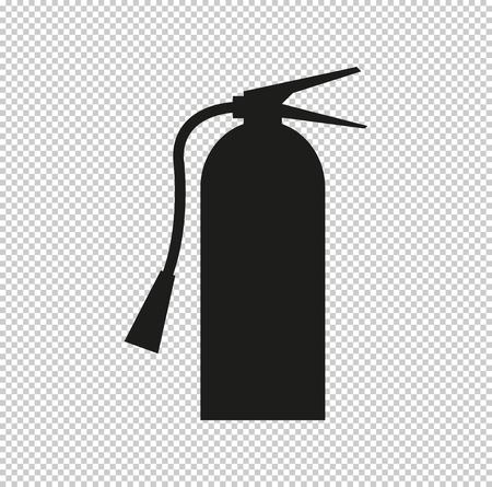 fire extinguisher symbol sign  - black vector icon Vectores