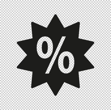 percent - black vector icon