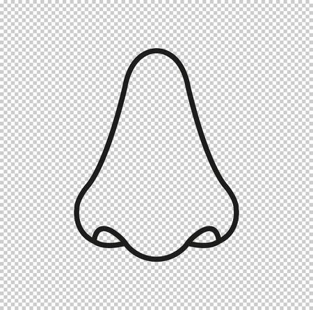 Nose  - black vector icon Ilustrace