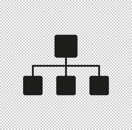 Network  - black vector icon Illustration