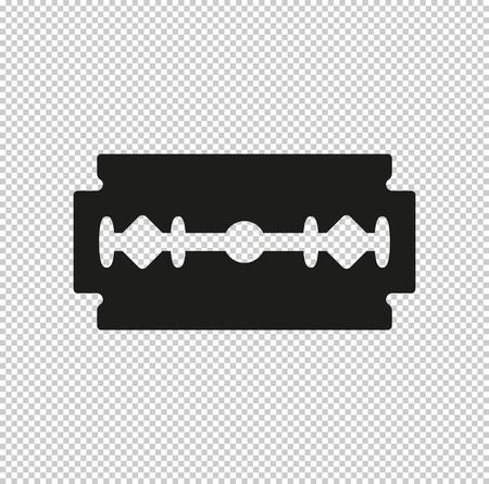 Klingenrasierer - schwarzes Vektorsymbol Vektorgrafik