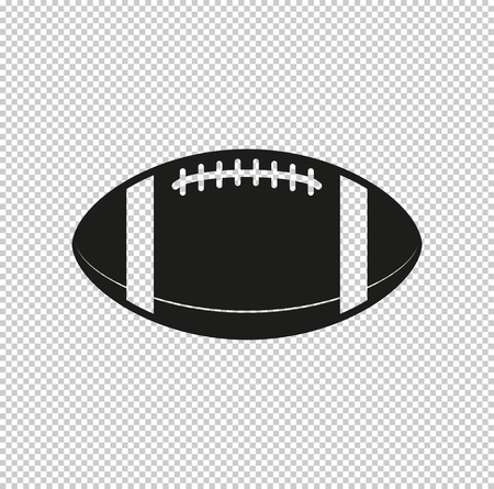 American football ball - black vector icon