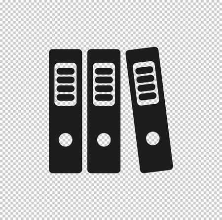 binders  - black vector icon