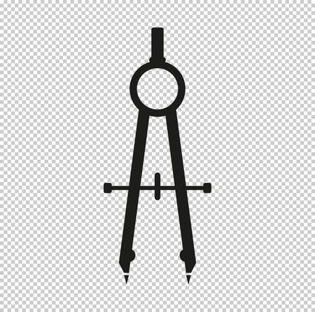 compass  - black vector icon