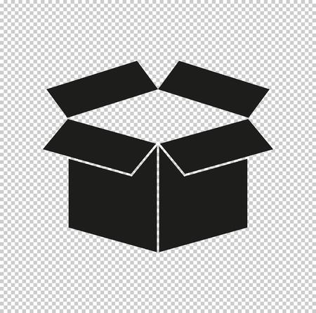 box - black vector icon