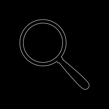 Search  - white vector icon