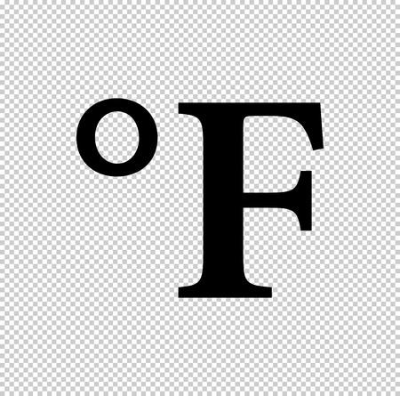 degrees Fahrenheit  - black vector icon