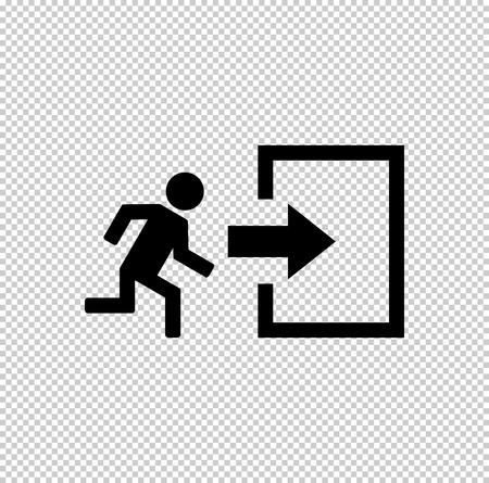 exit  - black vector icon