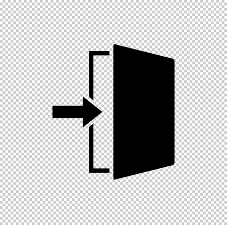 exit  - black vector icon