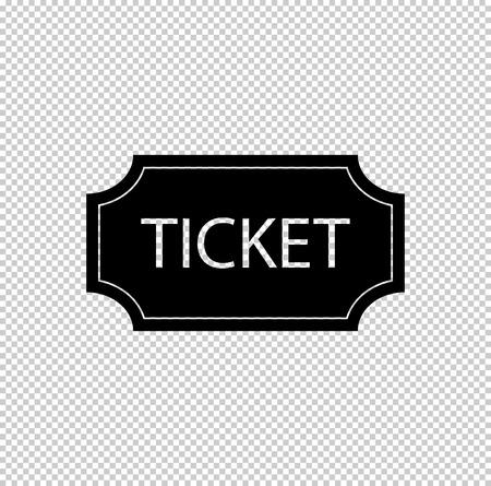 ticket  - black vector icon