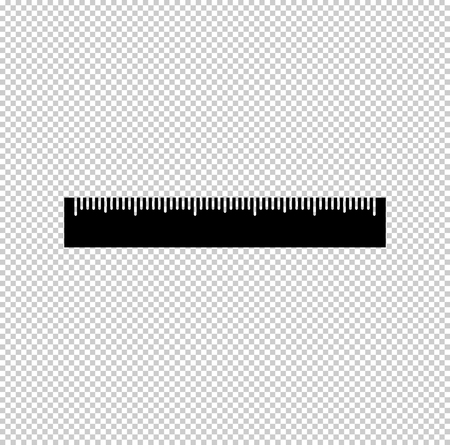 ruler - black vector icon Векторная Иллюстрация