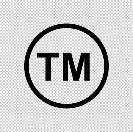 tm -  black vector icon