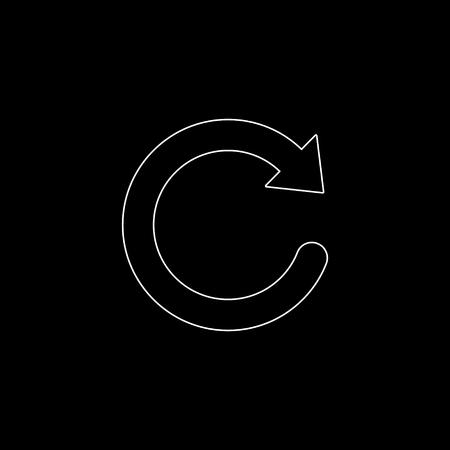 redo symbol  - white vector icon Ilustração