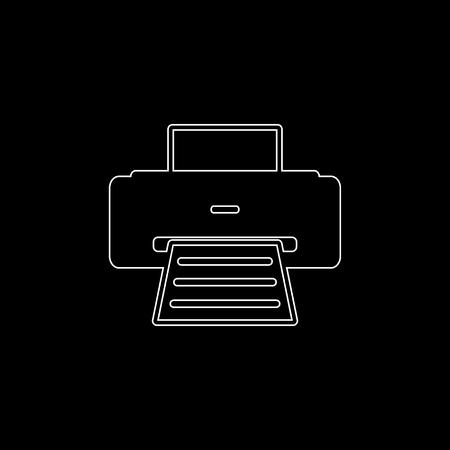 Printer -  white vector icon