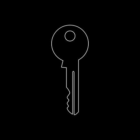 Key  - white vector icon