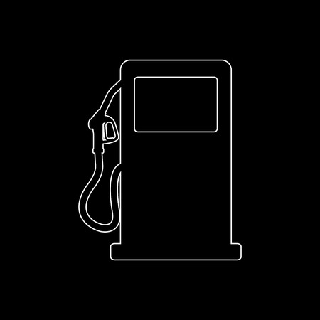 gas station sign  - white vector icon