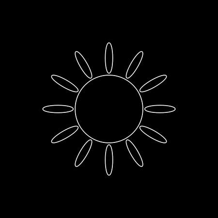 Sun  - white vector icon