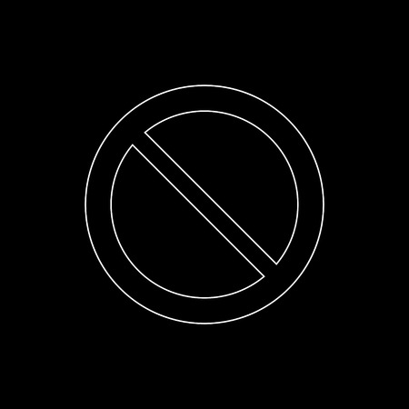 Not Allowed Sign  - white vector icon