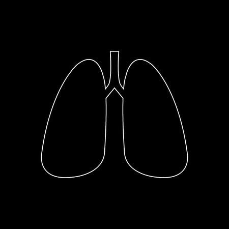 Human lung  - white vector icon Illustration