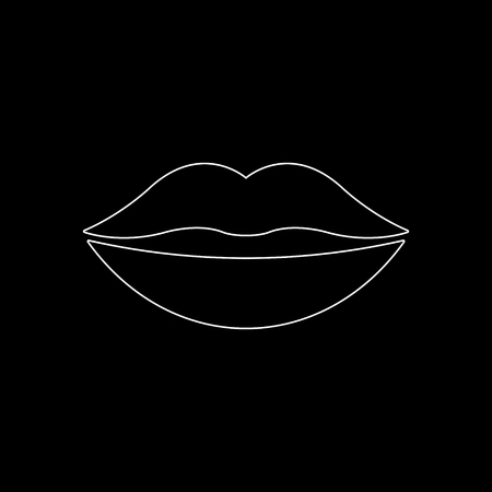 lips -  white vector icon 일러스트