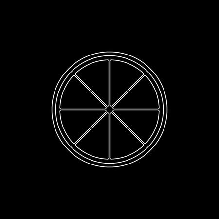lemon - white vector icon