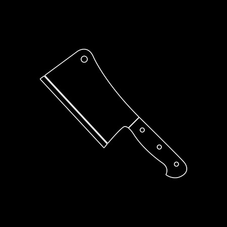 Meat cleaver knife  - white vector icon 일러스트