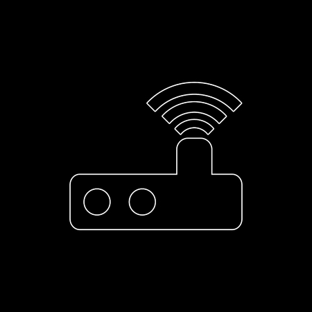 Router  - white vector icon Иллюстрация