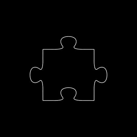puzzle  - white vector icon Illustration