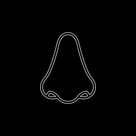 Nose -  white vector icon