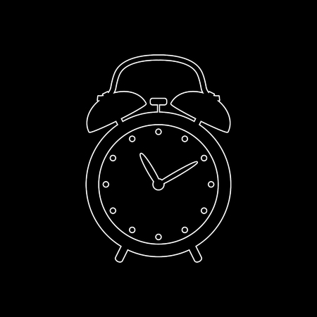 alarm clock -  white vector icon 向量圖像