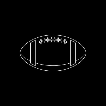 American football ball  - white vector icon 矢量图像