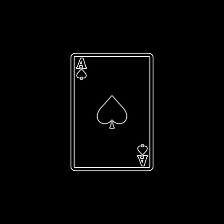ace - Playing card  - white vector icon