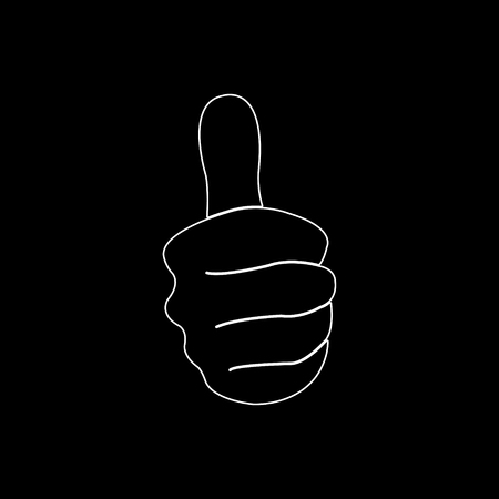 thumbs up   white vector icon