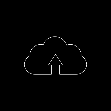 cloud download - white vector icon