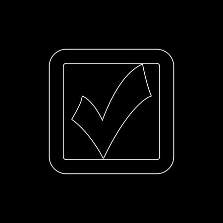 checklist  - white vector icon