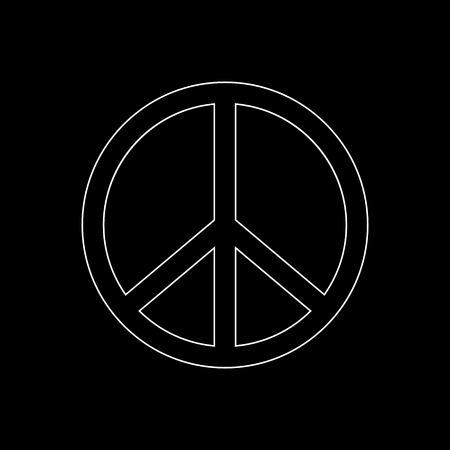 Peace sign  - white vector icon