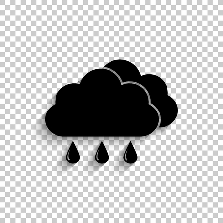 weather icon - black vector icon with shadow