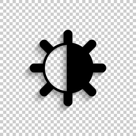contrasten - zwart vectorpictogram met schaduw