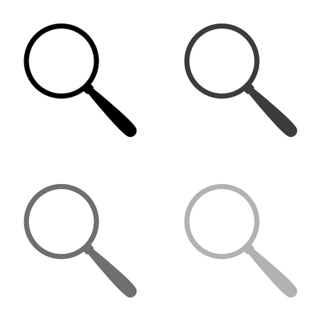 Search - black vector icon