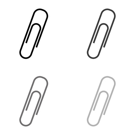 paperclip - black vector icon