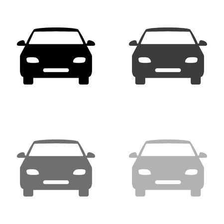 Auto - icona nera vettoriale