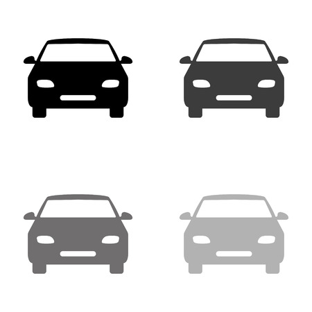 Auto - schwarzes Vektorsymbol