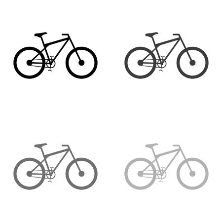 bicycle - black vector icon Ilustrace