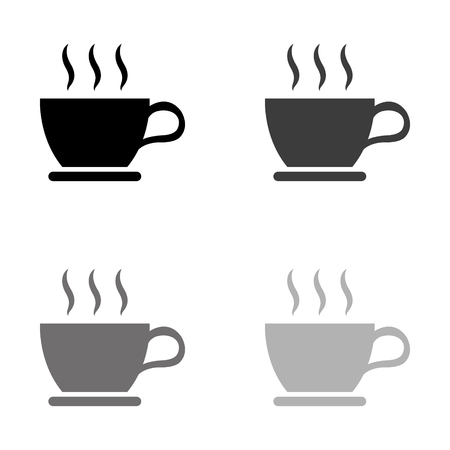 cup of coffee - black vector icon Illustration
