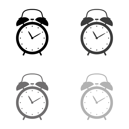 alarm clock - black vector icon