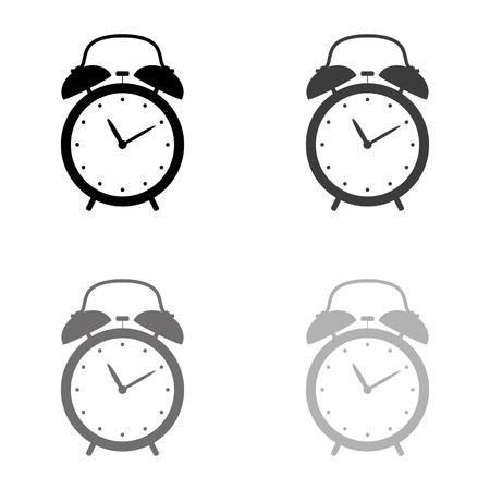 alarm clock - black vector icon