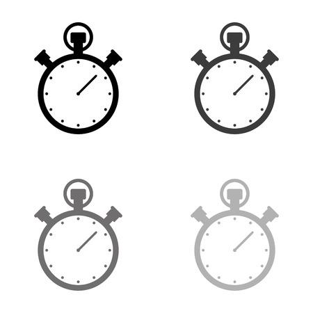 Stopwatch - black vector icon