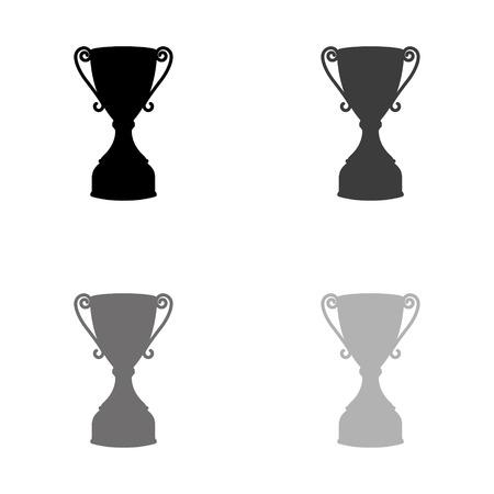 Trophy - black vector icon